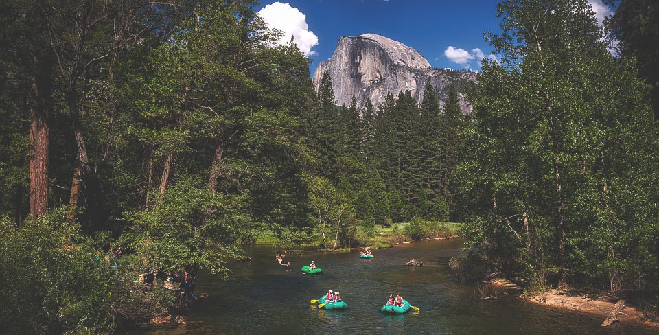 Un peu de rafting dans le parc National Yosemite en Californie ?