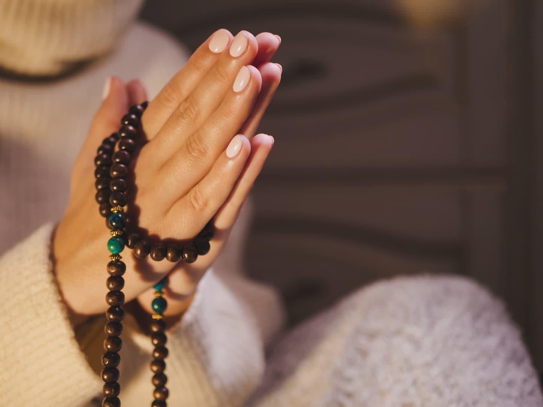 fabriquer un mâlâ de méditation